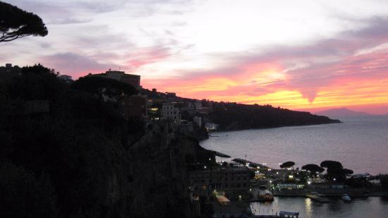 Europa Palace Grand Hotel: View from patio of spectacular sunset
