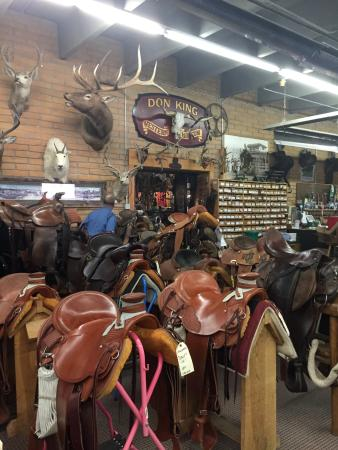 King's Saddlery and Museum: and more saddles...