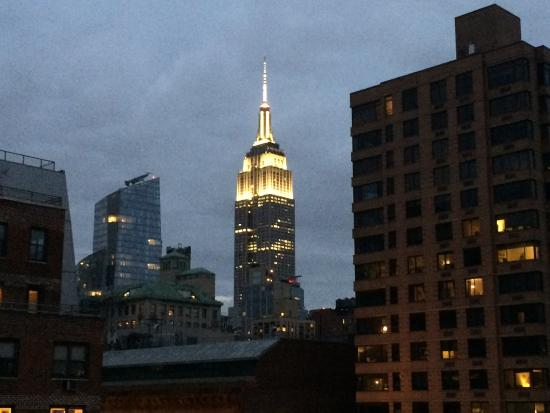 The Marcel at Gramercy: View of Empire State from 10th Floor Lounge