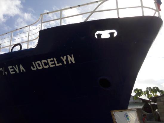 M/M Eva Jocelyn Shrine: Ships bow