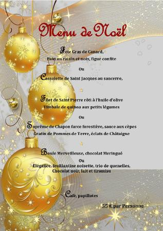 Menu de Noel 25 Décembre Le César Plan de Cuques Réservation au 04 91 07 25 25