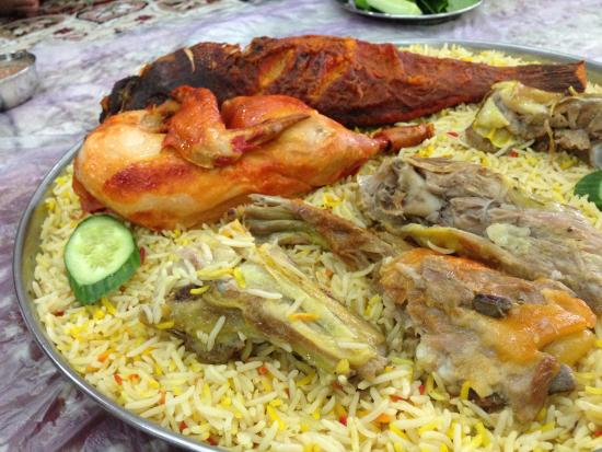 mandi rice with chicken and lamb meat picture of al tawasol