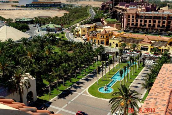 Widok Z Wiezy Lopesana Na Hotel Baobab Picture Of Lopesan Costa