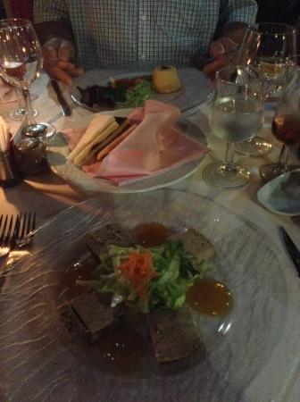 Restaurant Montmatre : Seafood Terrine and Chicken Liver Pate