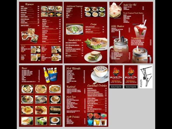 Hiokiya Ramen And Cafe Menu