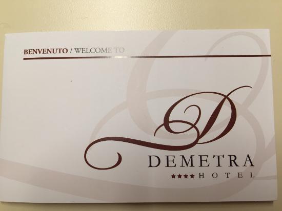 Demetra Hotel: Cartão