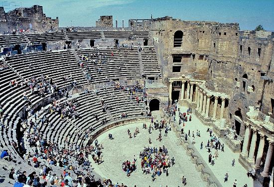 Bosra, Syrië: Il teatro