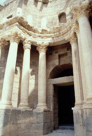 Bosra, Syrië: Particolare della scena