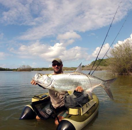 22lbs tarpon on fly picture of antigua fly fishing for Fly fishing charters