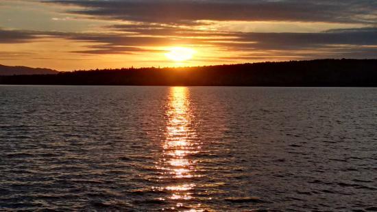 Lac-Megantic, Canada: Coucher de soleil
