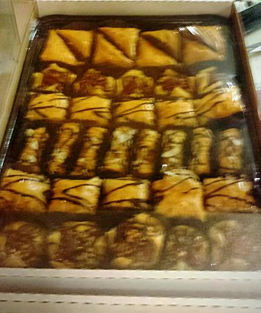 Sanger, CA: The baklava is their crowning glory. It's scrumptious.