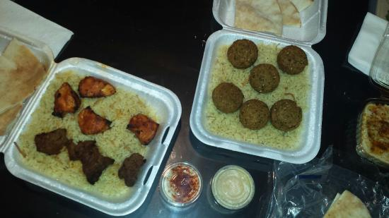 Sanger, CA: The chicken kabob is superb! The falafel was ok. The beef kabob didn't taste like beef. Maybe th