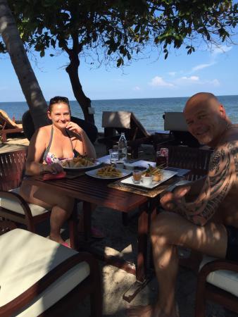 Asara Villa & Suite: dineren op het strand