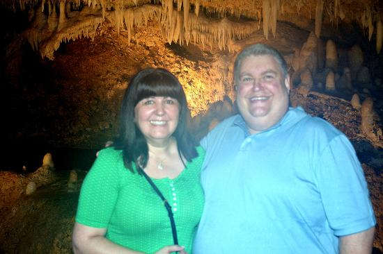Saint Thomas Parish, Barbados: Maria & Ed inside of Harrison's cave