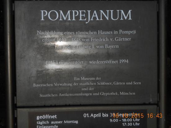 Pompejanum: visiting times