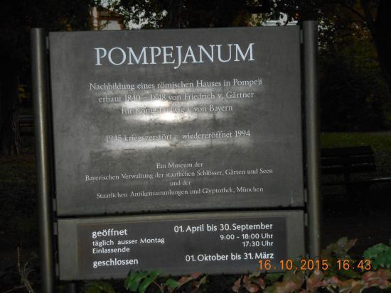 Pompejanum: times and description