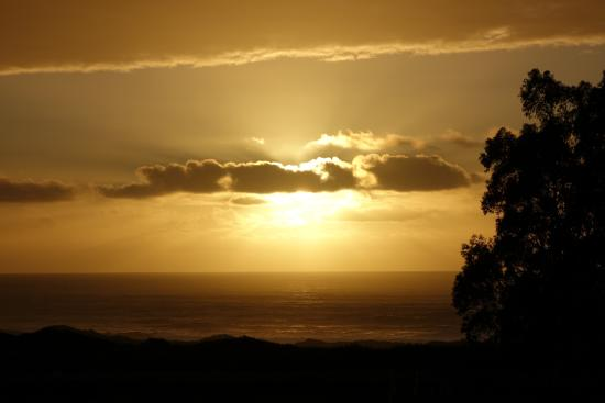 Sunset Picture Of Santa Cruz North Costanoa Koa