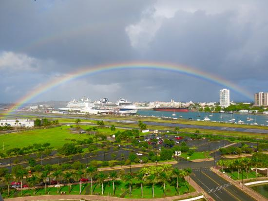 Sheraton Puerto Rico Hotel & Casino: Early morning rainbow