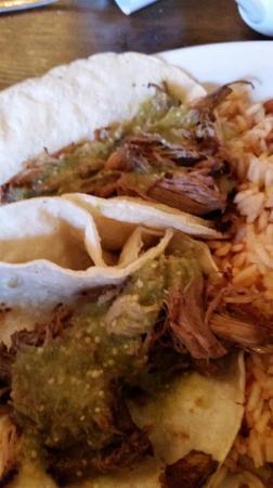 Hannah & Nate's: Carnitas tacos.