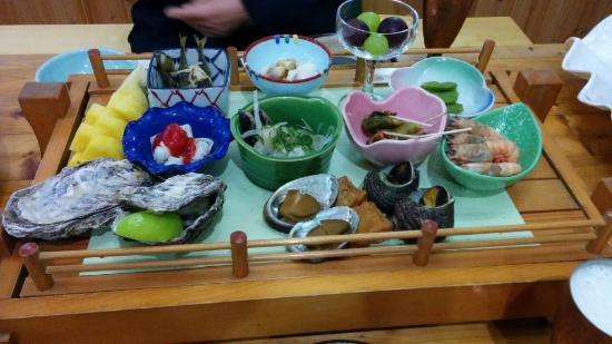 Seaside Toraya: 夕食のお膳