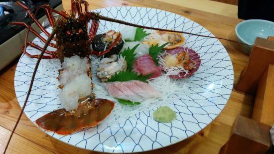 Seaside Toraya: 夕食の刺身