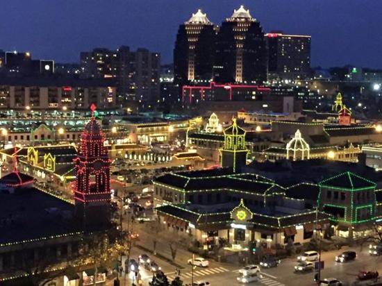 plaza at night picture of intercontinental kansas city. Black Bedroom Furniture Sets. Home Design Ideas