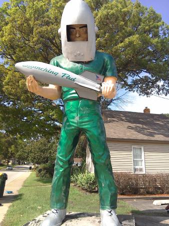 Wilmington, IL: The launching pad's green giant