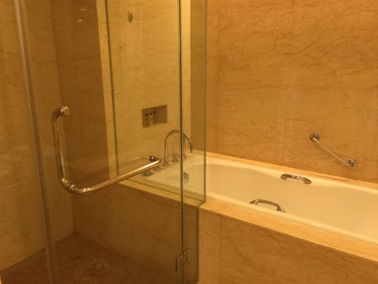Premier room - bath tub and separate standing shower - Picture of ...