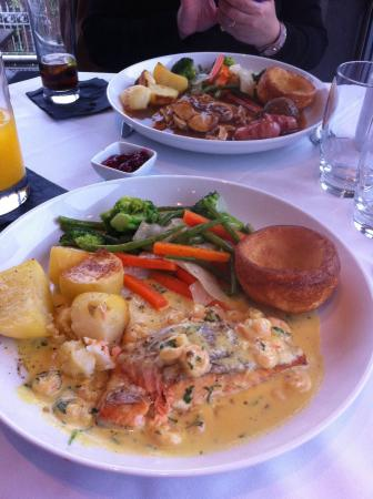 Appleby Magna, UK: Salmon & Prawns