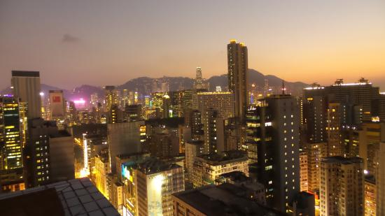 This Is Asia Private Tours-Day Tour : roof top bar scenery changing to night
