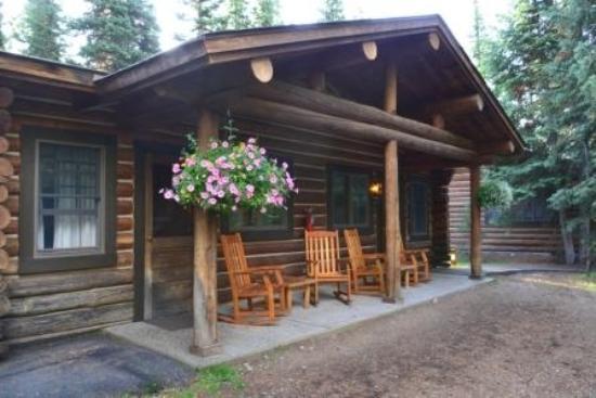 Jenny Lake Lodge: Kopf an Kopf mit dem Nachbarn - Keine Privatsphäre