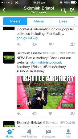 Keynsham, UK: NOT Battle Archery!! No idea why they are trading in our name?