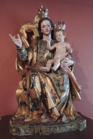 Musée d'Art Sacré (Museu de Arte Sacra) : Vierge à l'enfant, tous deux en majesté