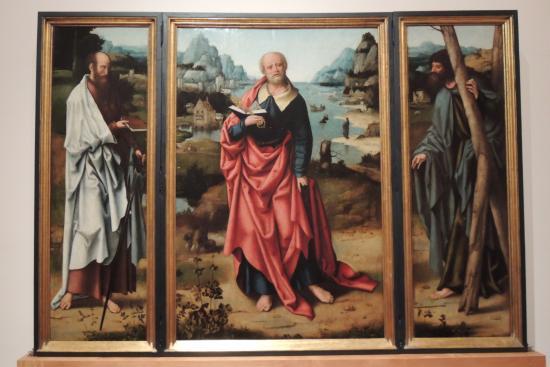 Musée d'Art Sacré (Museu de Arte Sacra) : L'un des tryptiques de Joos Van Clève