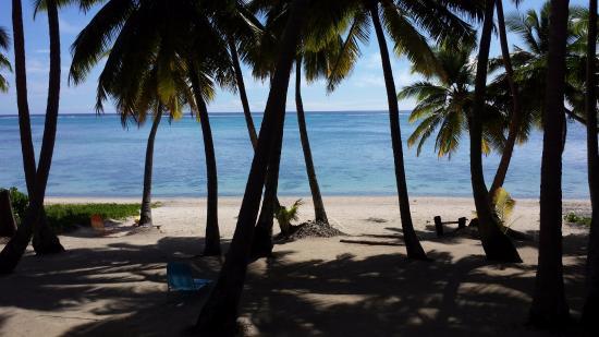 Amuri Sands, Aitutaki: view from balcony