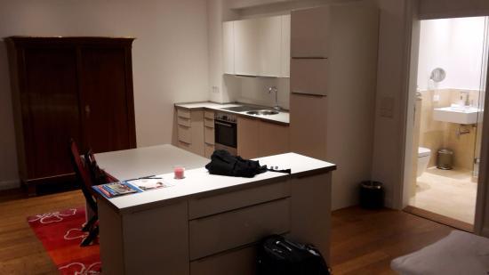 Design Hotel Vosteen: Küche + Bad