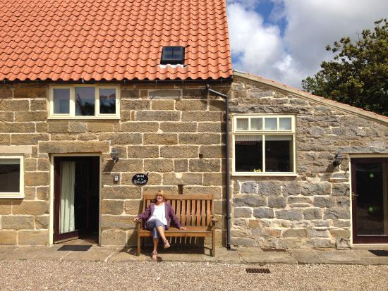 Fylingthorpe, UK: Lovely sunny seating area in front of Pear Cottage