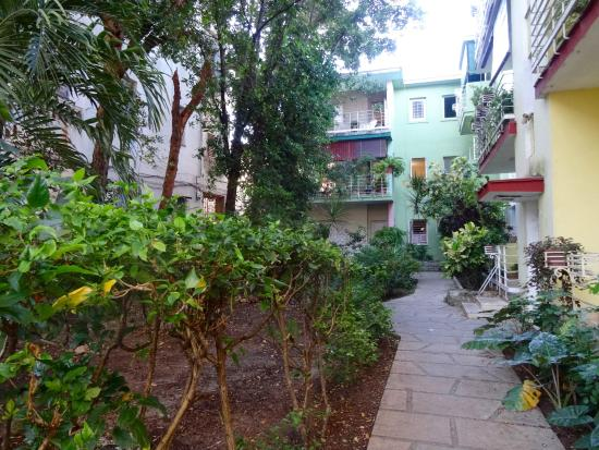 Casa Petronila: Green, set back from road so may be hard to find initially