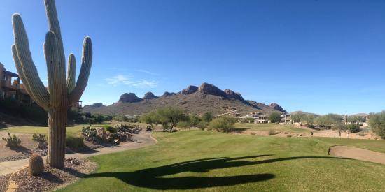 Gold Canyon Resort - Sidewinder Golf Course : The Sidewinder course with Dinosaur Mountain in the background.