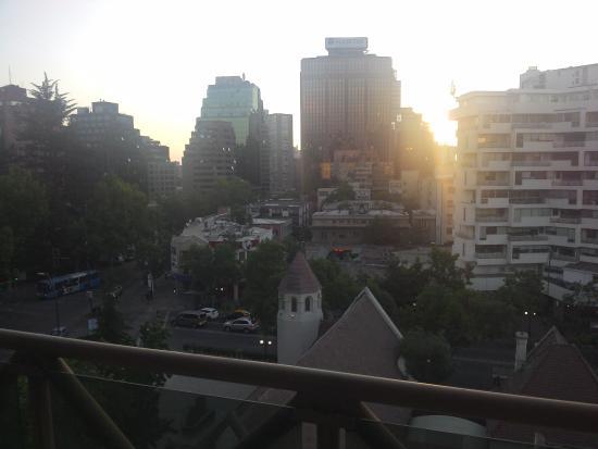 La Fayette Suites Providencia : Vista desde el balcón del living