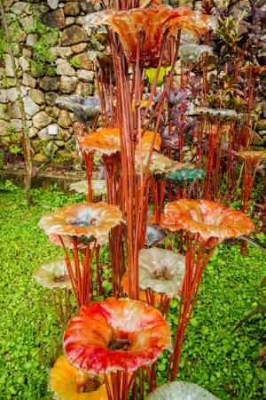 Faun\'s glass flowers - Picture of Art and Garden, Penang Island ...