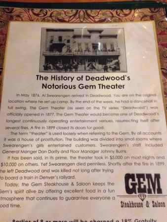 Gem Steakhouse & Saloon: photo0.jpg
