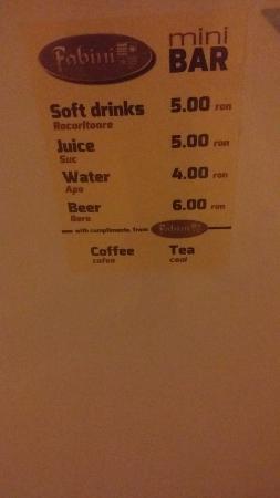 Medias, Ρουμανία: Mini- Bar prices