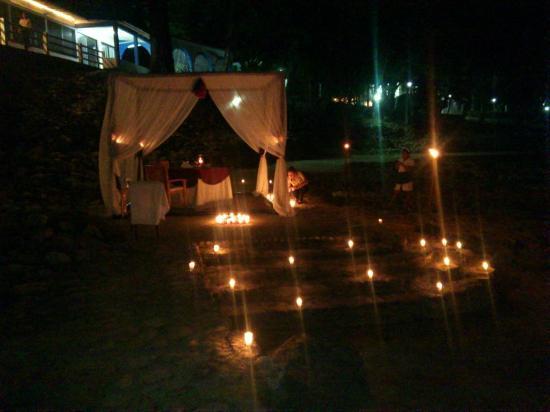 Hotel Nututun Palenque: Cena Romantica