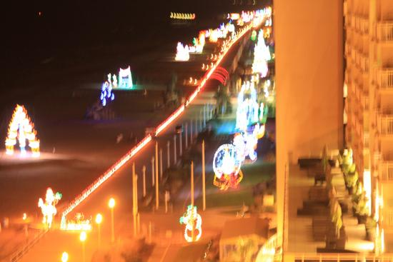 virginia beach boardwalk boardwalk with christmas lights