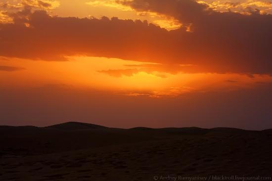 Zaafrane, Tunisie: Закат в Сахаре