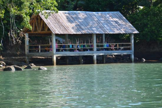 Hotel Bocas del Mar: Yoga deck right over the water
