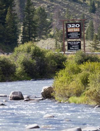 320 Guest Ranch: Entrance and Gallatin River