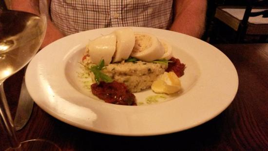 Great Longstone, UK: Stuffed squid