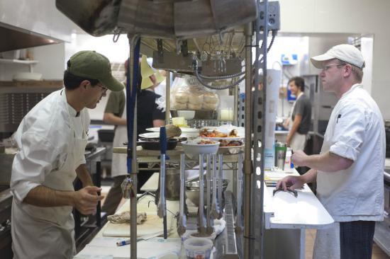 Gallatin Gateway, Монтана: Our kitchen staff hard at work!